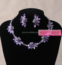 elegant floral wedding alloy channel fashion jewelry necklace