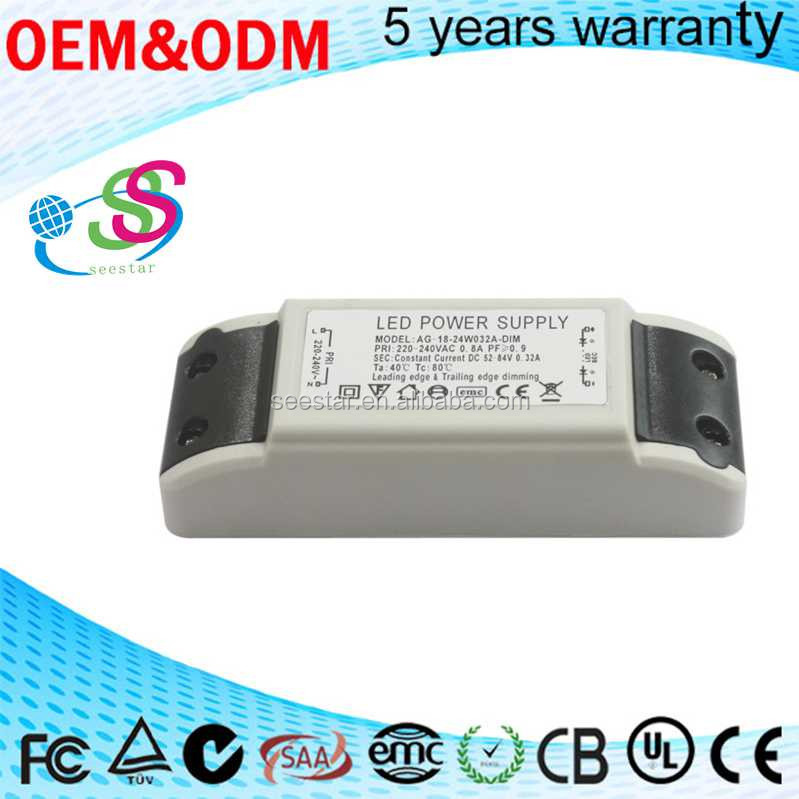 18-24W 320mA leading edge trailing edge dimming triac led driver switching power supply constant current high pf pass CE EMC