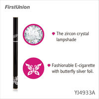 innovative new products YJ4933A lady e cigarette with decorative pattern e cigs