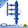 "China manufactured cement heads / casing cement head / cementing head with 2"" 15000 PSI hammer union manifold inlets"