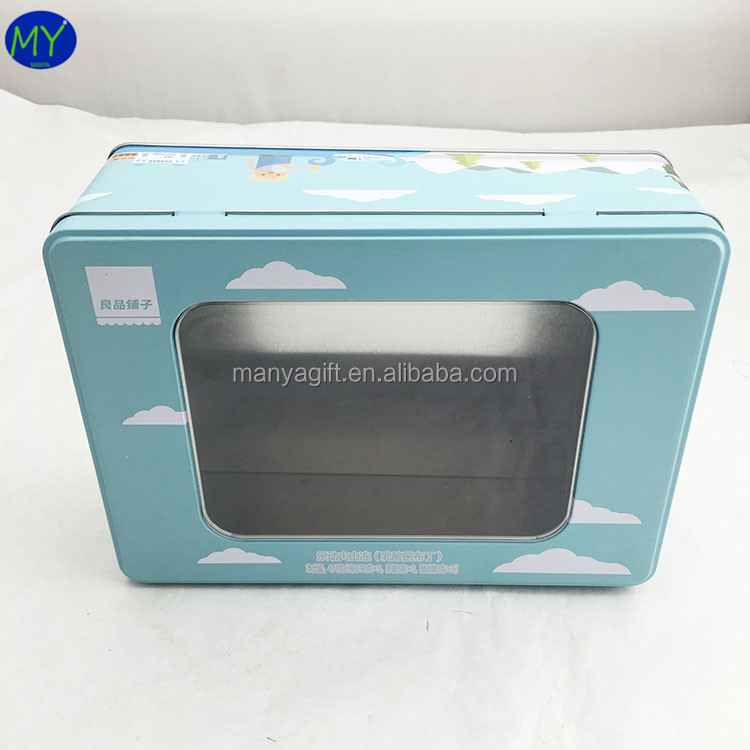 Best selling quality cosmetic tin packing box with clear window with A grade