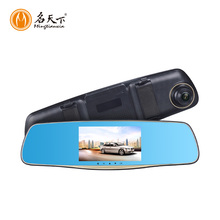 Dual lens Vehicle Black Box Dvr User Manual with rearview mirror car black box with micro sd CE certification