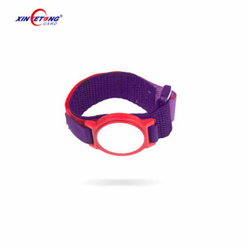 Watch style RFID IC Smart 125KHz EM4305 rfid nylon wristband For Healthcare Door Access