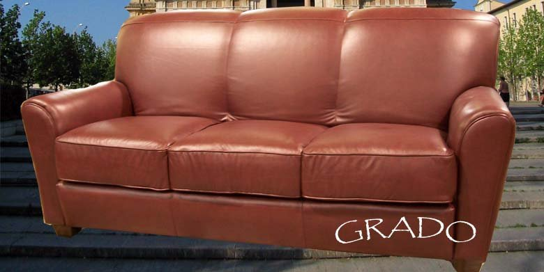 (Leather Sofa) Style: Grado