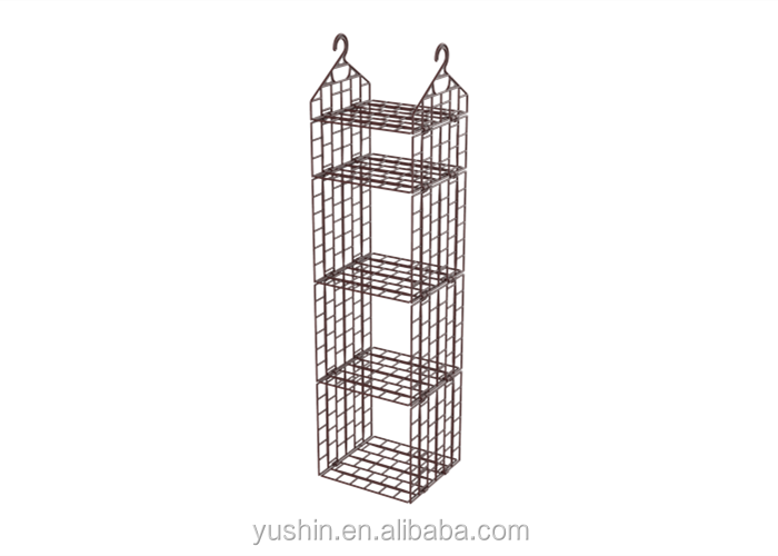 Multi-purpose hanging closet organizer/plastic shelf divider