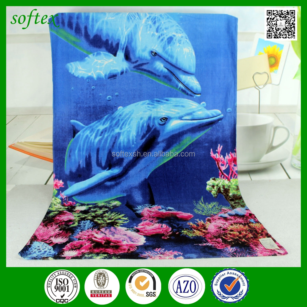 New Dolphins Underwater Ocean Sea Life Bath Beach Pool Gift Towel Dolphin
