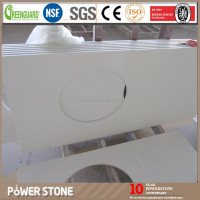 Custom Made Quartz Stone Laminate Kitchen Island Countertop