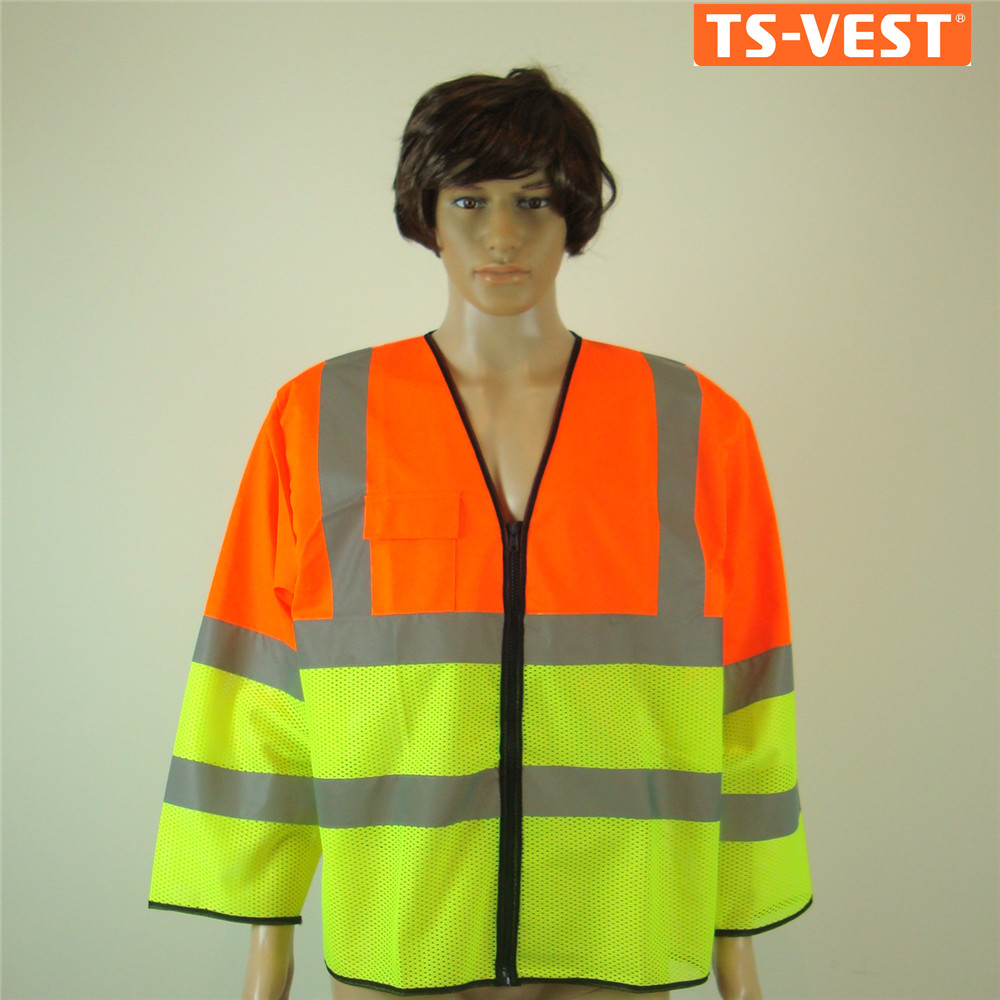Promotion Safety Clothes Reflective Vest Long Sleeves