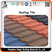 Stone Coated Granules Plastic Spanish Roof Tile Popular In Africa