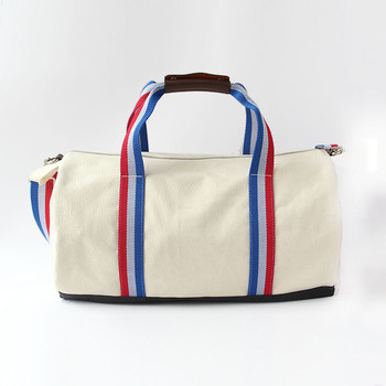 Colorful strap canvas duffle with original leather Since 1997