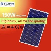 Polycrystalline silicon solar module 150 Watt with TUV