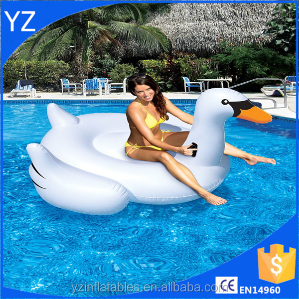 water swimming pool floating inflatable swan toy,inflatable swan float