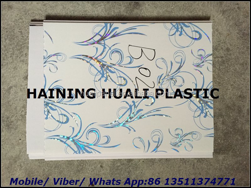 false sky wood PVC decorative panel ceiling panel hot stamping pvc wall panel