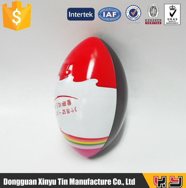 NEW PRODUCTS christmas tree rugby shape tin box