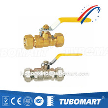 Tubomart AS 4617 gas brass Ball Valve TM-300 serie compression ball valve for gas pex al pex pipe free sample ISO certified