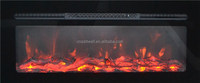 LED wall mounted electric fireplace with changing flame color