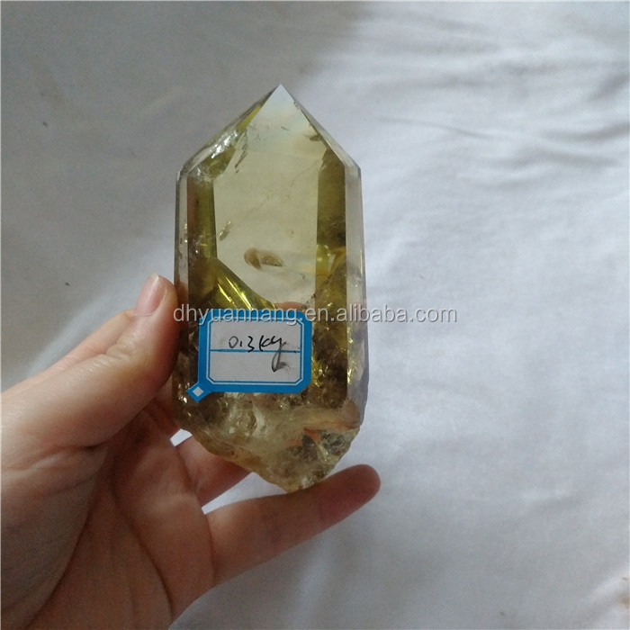 high quality natural citrine quartz crystal points rock citrine crystal healing wands