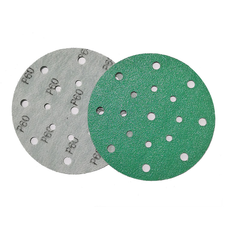 6inch 150mm Green coated film hook and loop sanding disc waterproof abrasive <strong>paper</strong> for automotive