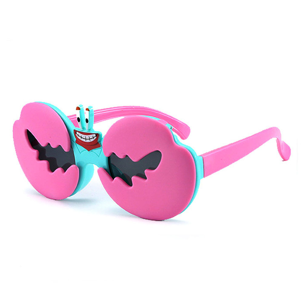 New  children  silicone cartoon crab shape sunglasses 2020