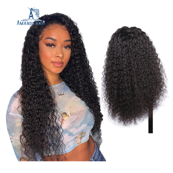100% Brazilian Virgin Human Hair Transparent Swiss Lace Wig HD Body Wave Curly Lace Front wigs for Black Women