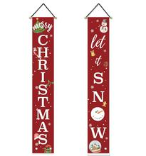 Merry Christmas <strong>Banner</strong> Xmas Decoration <strong>Banners</strong> for Home Wall Door Apartment Party Merry Christmas Porch Sign