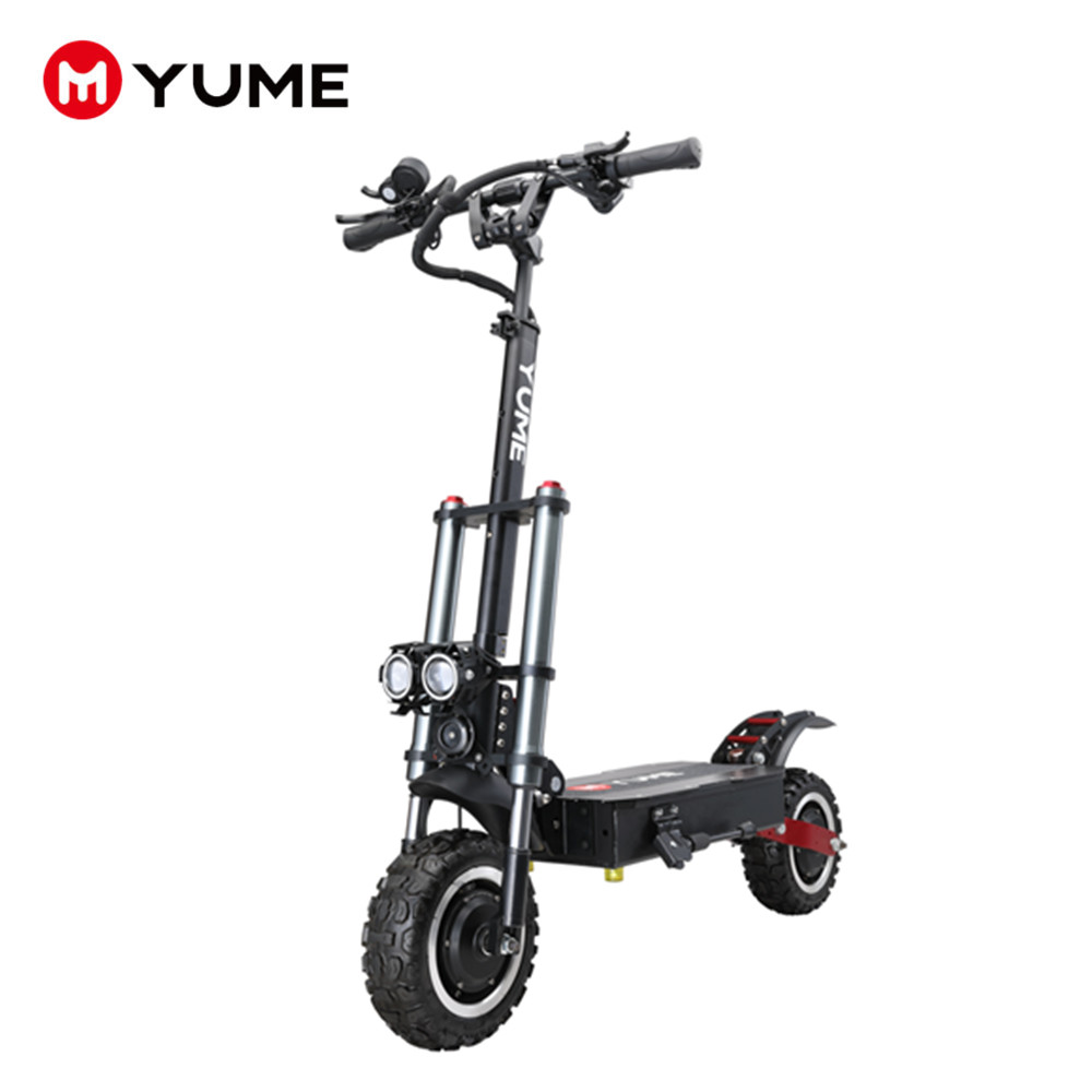 Yume 5600w 60v 41ah lithium battery <strong>electric</strong> scooter long range 11 inch fat tire folding scooter <strong>electric</strong> for adult