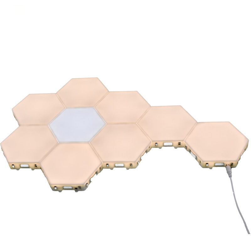 Quantum Light Led Hexagonal Lamps Modular <strong>Touch</strong> Sensitive Lighting Magnetic Hexagons Creative Decoration Wall Led Night Light