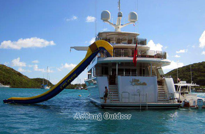 Lake Yacht Inflatable Water Boat Slide from China Manufacturer