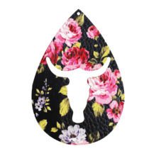 Floral Lattice Sequins Double-Sided Printing Laser Womens Large Hollow Animal Shape Leather Earrings Piece