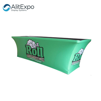 Trade show table cloth cover polyester advertising commercial custom table cover