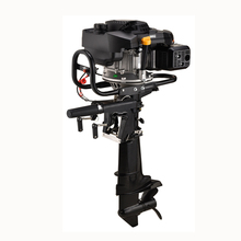 New 4 stroke Air cooled gasoline fuel type 9HP 224cc outboard motor with gear shaft boat engine/outboards