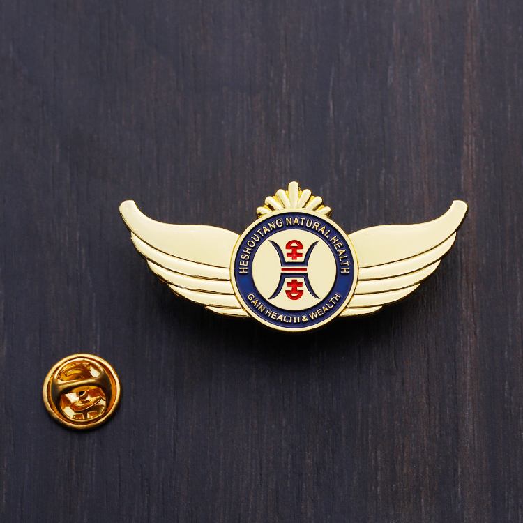 Factory price company logo custom metal lapel hard enamel  pin with rubber pin back