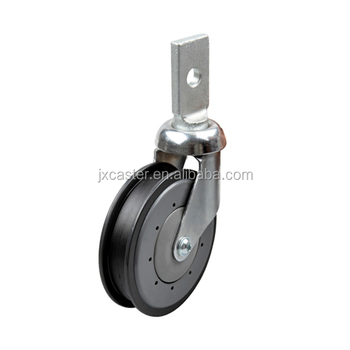 Factory supermarket shopping cart caster with plate