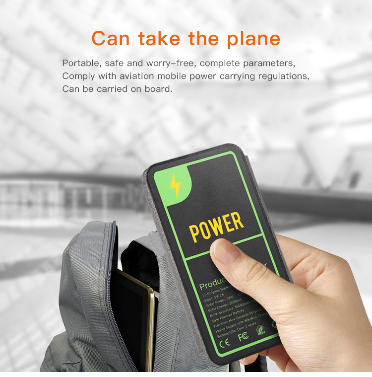 portable 10w  waterpoof Wireless solar charger10000mah solar energy power bank