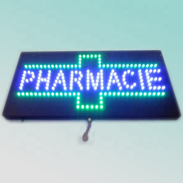 CE RoHS 60X30cm outdoor animation flashing electronic pharmacy led display
