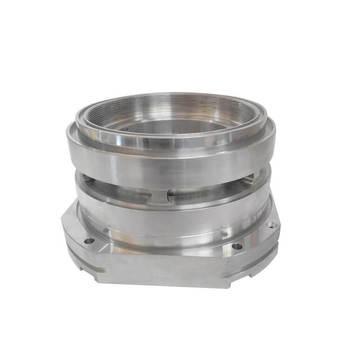 Densen Customized Precision CNC Machining  Aluminum end cap for high speed train parts,valve cap aluminum or aluminum end cap