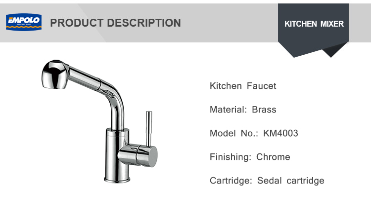 Wall Mounted Kitchen Mixer Taps Pull Out Vertical Kitchen Sink Faucet With CUPC Flexible Kitchen Faucet Hose