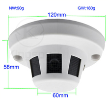 Support onvif audio network hidden spy Home <strong>Security</strong> 2MP HD Full 3.6mm Pinhole Lens IP Smoke Detector POE Camera 1080p