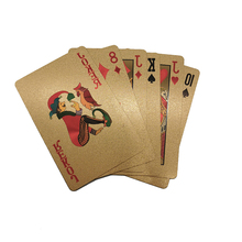 High quality custom gold foil playing cards foil poker for promotion