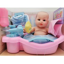11-inch doll family toys can take a bath doll boys and girls children's educational toys with bathtubs