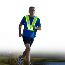 CE Approved Reflective <strong>Safety</strong> LED Running Vest for Night Sports
