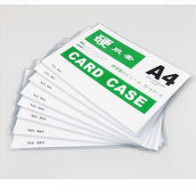 Hot Sale Transparent Color PVC Material Glue Card <strong>Case</strong> With A4 Size Pockets.