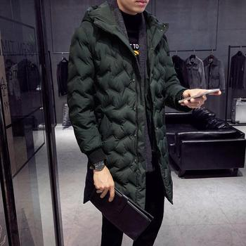 Wholesale Outdoor seamless green down jacket Winter print down coat Cotton Padded Puffer Jacket Men winter jacket