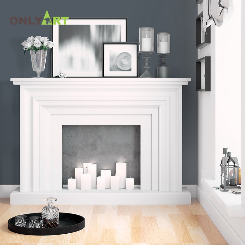 natural stone customized  fireplace with column
