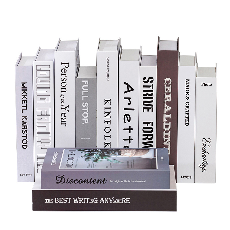 KP wholesale high quality book light decoration decorating book covers guccl <strong>channel</strong> book decoration box
