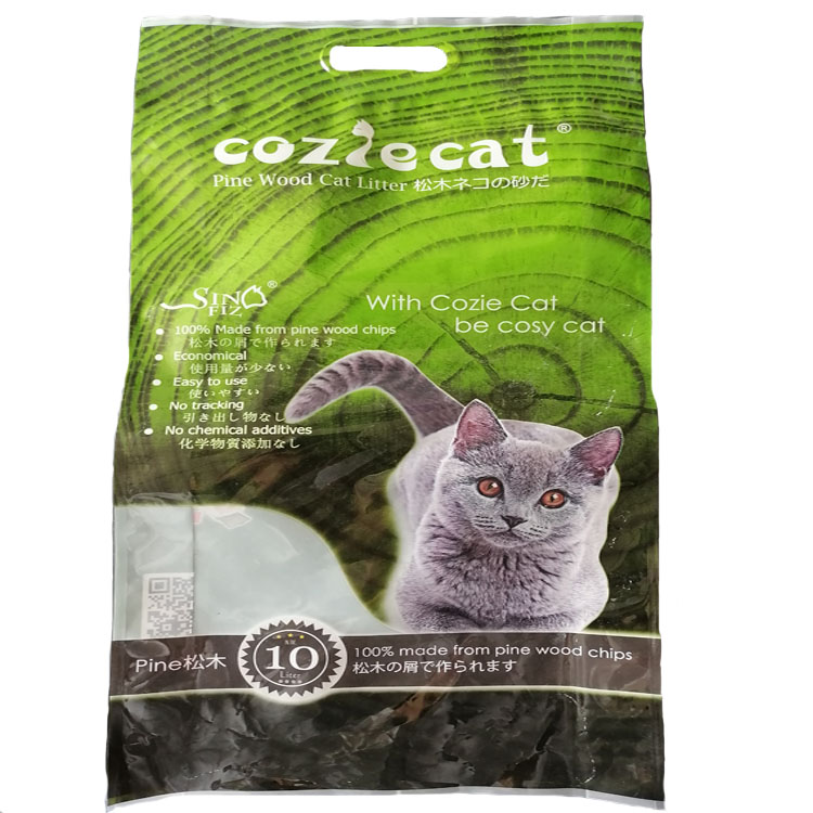 Natural Pine Wood Cat Litter Clumping Clay Premium Cat Litter  Fragrance Free Soluble In Water
