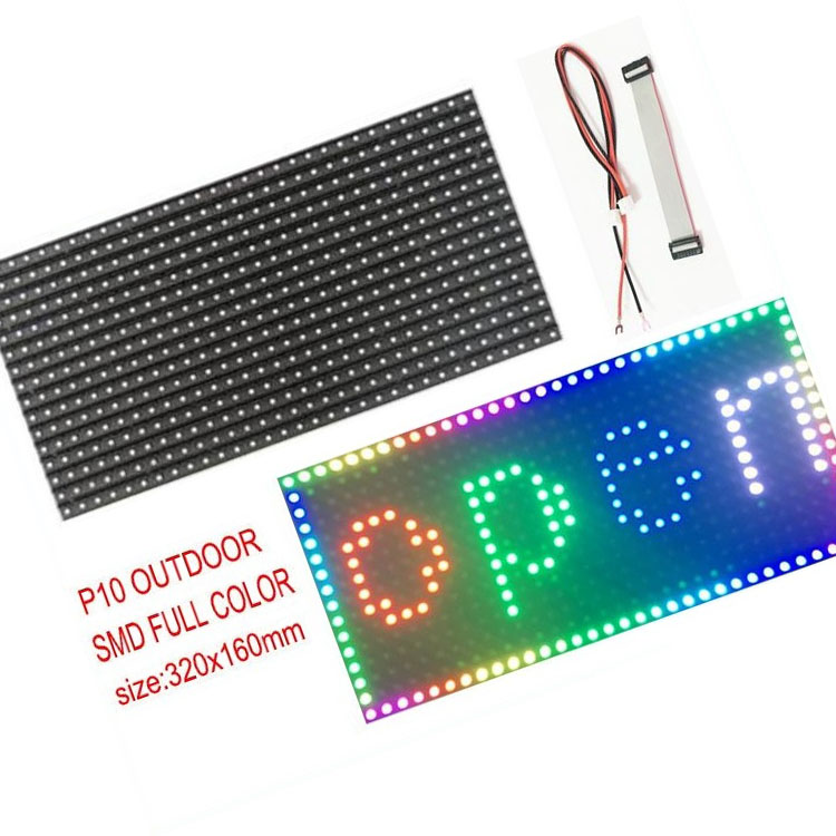 1/4 Scanning High Quality Factory Price Indoor Smd Panel 32*16 <strong>1r1g</strong> 32x16 Resist Water <strong>P10</strong> Outdoor Dual Color <strong>Led</strong> Display <strong>Module</strong>