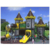 the most popular outdoor game safe and beautiful playground plastic toy playground equipment for sale HF-G048