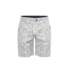 Best Selling 100% Cotton Man's Hot Shorts Summer Casual White Print Seaside Walk Shorts Half Pants For Men