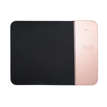 2019 hot new design gift mouse pad qi wireless charger portable leather phone wireless charge pad